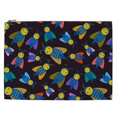 Bees Animal Insect Pattern Cosmetic Bag (xxl)  by Nexatart