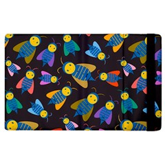Bees Animal Insect Pattern Apple Ipad 3/4 Flip Case by Nexatart