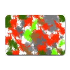 Abstract Watercolor Background Wallpaper Of Splashes  Red Hues Small Doormat  by Nexatart