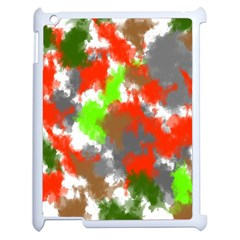 Abstract Watercolor Background Wallpaper Of Splashes  Red Hues Apple Ipad 2 Case (white) by Nexatart