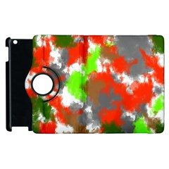 Abstract Watercolor Background Wallpaper Of Splashes  Red Hues Apple Ipad 3/4 Flip 360 Case by Nexatart