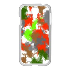 Abstract Watercolor Background Wallpaper Of Splashes  Red Hues Samsung Galaxy S4 I9500/ I9505 Case (white) by Nexatart