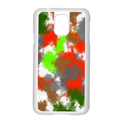 Abstract Watercolor Background Wallpaper Of Splashes  Red Hues Samsung Galaxy S5 Case (white) by Nexatart