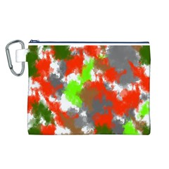 Abstract Watercolor Background Wallpaper Of Splashes  Red Hues Canvas Cosmetic Bag (l)