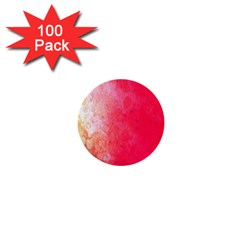 Abstract Red And Gold Ink Blot Gradient 1  Mini Buttons (100 Pack)