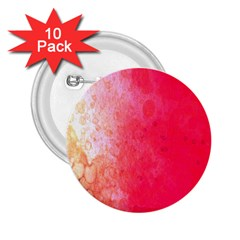 Abstract Red And Gold Ink Blot Gradient 2 25  Buttons (10 Pack)  by Nexatart