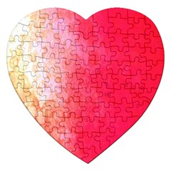 Abstract Red And Gold Ink Blot Gradient Jigsaw Puzzle (heart) by Nexatart