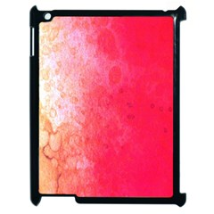 Abstract Red And Gold Ink Blot Gradient Apple Ipad 2 Case (black) by Nexatart