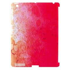 Abstract Red And Gold Ink Blot Gradient Apple Ipad 3/4 Hardshell Case (compatible With Smart Cover) by Nexatart
