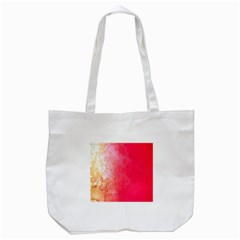 Abstract Red And Gold Ink Blot Gradient Tote Bag (white) by Nexatart
