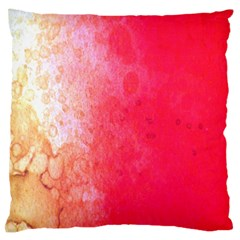 Abstract Red And Gold Ink Blot Gradient Standard Flano Cushion Case (one Side) by Nexatart