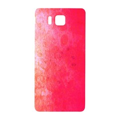 Abstract Red And Gold Ink Blot Gradient Samsung Galaxy Alpha Hardshell Back Case by Nexatart