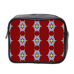 Geometric Seamless Pattern Digital Computer Graphic Wallpaper Mini Toiletries Bag 2 Side by Nexatart