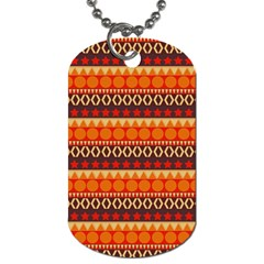Abstract Lines Seamless Pattern Dog Tag (two Sides) by Nexatart