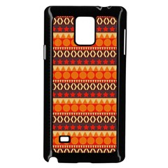 Abstract Lines Seamless Pattern Samsung Galaxy Note 4 Case (black) by Nexatart