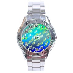 Swarm Of Bees Background Wallpaper Pattern Stainless Steel Analogue Watch by Nexatart