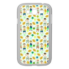 Football Kids Children Pattern Samsung Galaxy Grand Duos I9082 Case (white) by Nexatart