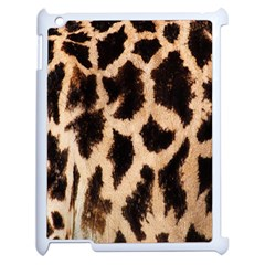 Yellow And Brown Spots On Giraffe Skin Texture Apple Ipad 2 Case (white) by Nexatart
