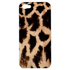 Yellow And Brown Spots On Giraffe Skin Texture Apple Iphone 5 Hardshell Case by Nexatart