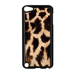 Yellow And Brown Spots On Giraffe Skin Texture Apple Ipod Touch 5 Case (black) by Nexatart