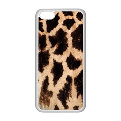 Yellow And Brown Spots On Giraffe Skin Texture Apple Iphone 5c Seamless Case (white) by Nexatart