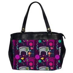 Love Colorful Elephants Background Office Handbags (2 Sides)  by Nexatart