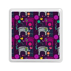 Love Colorful Elephants Background Memory Card Reader (square)  by Nexatart