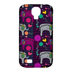 Love Colorful Elephants Background Samsung Galaxy S4 Classic Hardshell Case (pc+silicone) by Nexatart