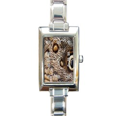 Butterfly Wing Detail Rectangle Italian Charm Watch by Nexatart
