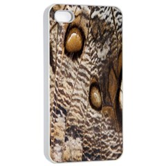 Butterfly Wing Detail Apple Iphone 4/4s Seamless Case (white) by Nexatart