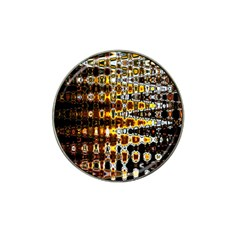 Bright Yellow And Black Abstract Hat Clip Ball Marker (4 Pack) by Nexatart