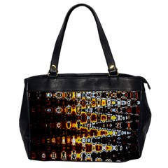 Bright Yellow And Black Abstract Office Handbags by Nexatart