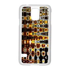 Bright Yellow And Black Abstract Samsung Galaxy S5 Case (white) by Nexatart