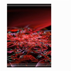 Red Fractal Valley In 3d Glass Frame Small Garden Flag (two Sides) by Nexatart