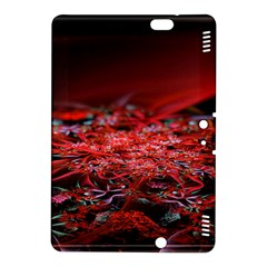 Red Fractal Valley In 3d Glass Frame Kindle Fire Hdx 8 9  Hardshell Case by Nexatart