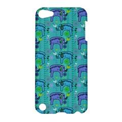 Elephants Animals Pattern Apple Ipod Touch 5 Hardshell Case by Nexatart