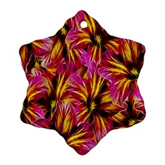 Floral Pattern Background Seamless Snowflake Ornament (Two Sides)