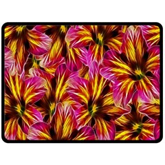 Floral Pattern Background Seamless Double Sided Fleece Blanket (large)  by Nexatart