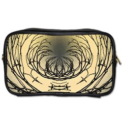 Atmospheric Black Branches Abstract Toiletries Bags 2 Side by Nexatart