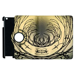 Atmospheric Black Branches Abstract Apple Ipad 2 Flip 360 Case by Nexatart