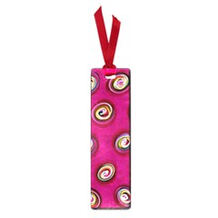 Digitally Painted Abstract Polka Dot Swirls On A Pink Background Small Book Marks by Nexatart
