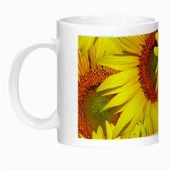 Sunflowers Background Wallpaper Pattern Night Luminous Mugs by Nexatart