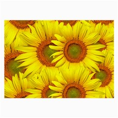 Sunflowers Background Wallpaper Pattern Large Glasses Cloth (2 Side) by Nexatart