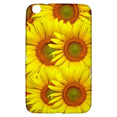 Sunflowers Background Wallpaper Pattern Samsung Galaxy Tab 3 (8 ) T3100 Hardshell Case  by Nexatart
