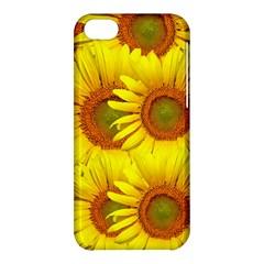 Sunflowers Background Wallpaper Pattern Apple Iphone 5c Hardshell Case by Nexatart