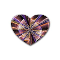Background Image With Wheel Of Fortune Heart Coaster (4 Pack)  by Nexatart