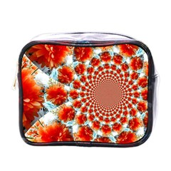 Stylish Background With Flowers Mini Toiletries Bags by Nexatart