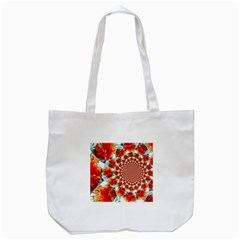 Stylish Background With Flowers Tote Bag (white) by Nexatart