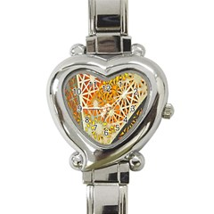 Abstract Starburst Background Wallpaper Of Metal Starburst Decoration With Orange And Yellow Back Heart Italian Charm Watch by Nexatart