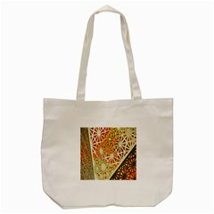 Abstract Starburst Background Wallpaper Of Metal Starburst Decoration With Orange And Yellow Back Tote Bag (cream) by Nexatart